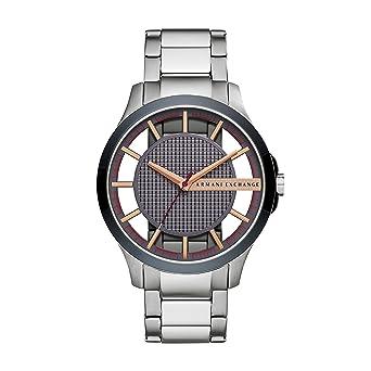 Watch Edelstahl Armband Exchange Analog Armani Quarz Armbanduhr Mit Smart Herren Ax2405 5ARj34L