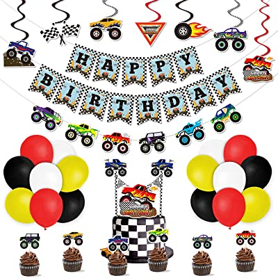 Monster Truck Party Ideas Boys Party Ideas At Birthday In A Box
