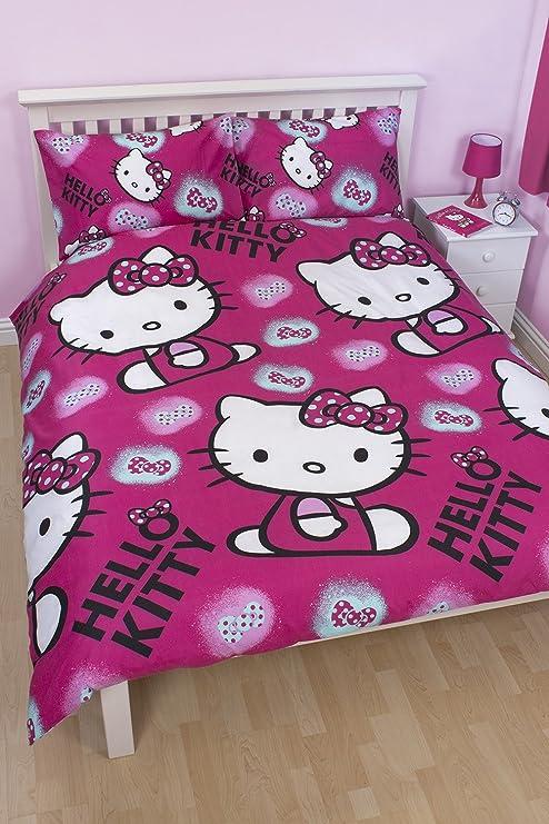 Piumone Hello Kitty 1 Piazza E Mezza.Copripiumino Lenzuola Reversibile Hello Kitty 1 Piazza E Mezza