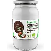 PureBIO Kokosöl 1000ml (1L) für HAARE, HAUT und zum KOCHEN - Kokosöl bio, nativ und kaltgepresst