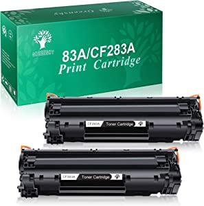 GREENSKY Compatible Toner Cartridge Replacement for HP 83A CF283A Work with HP Laserjet Pro MFP M127fn M127fw M201dw M125nw M225dw M225dn Printer(Black, 2 Packs)