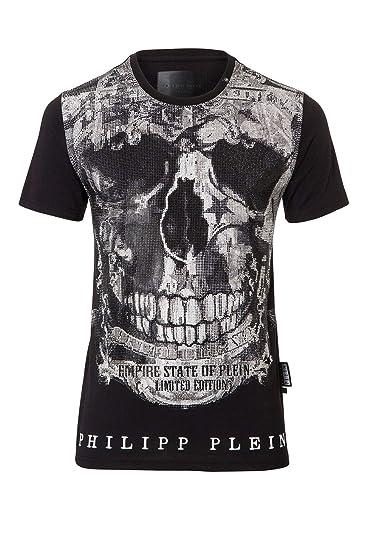 124f1198d6 Philipp Plein Limited MTK1449 02 T-Shirt Black  Amazon.co.uk  Clothing