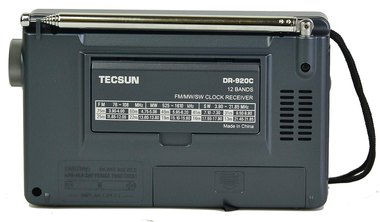 TECSUN DR-920C Digital FM/MW/SW World Band Radio (Black Color)