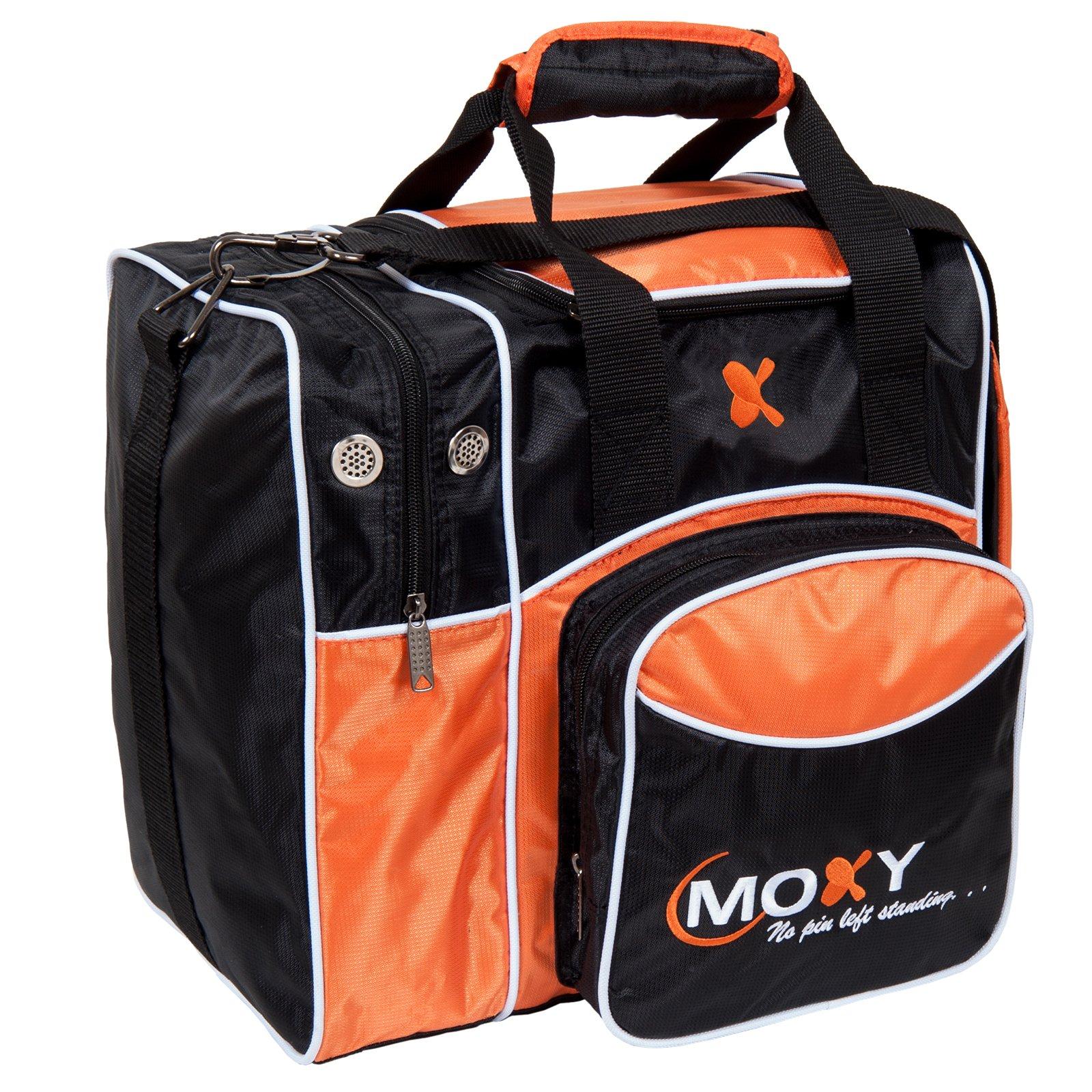 Moxy Deluxe Single Tote Bowling Bag,Orange/Black