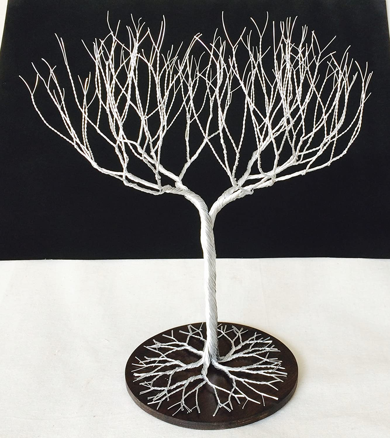 Super Dense Jewelry Tree Stand , wire tree , display bracelet, earring organizer , silver wedding decor