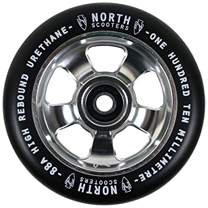 Amazon.com: North Scooters HQ negro 88 A rueda de patinete ...