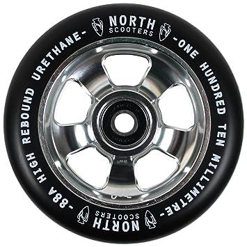 Norte Scooters HQ 110 mm 88 A rueda de patinete de plata y ...