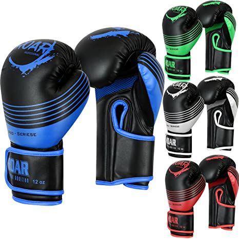 2b84c83a2 Roar Boxing Training Gloves Gel Sparring MMA Muay Thai Punching Bag Mitts  (Blue