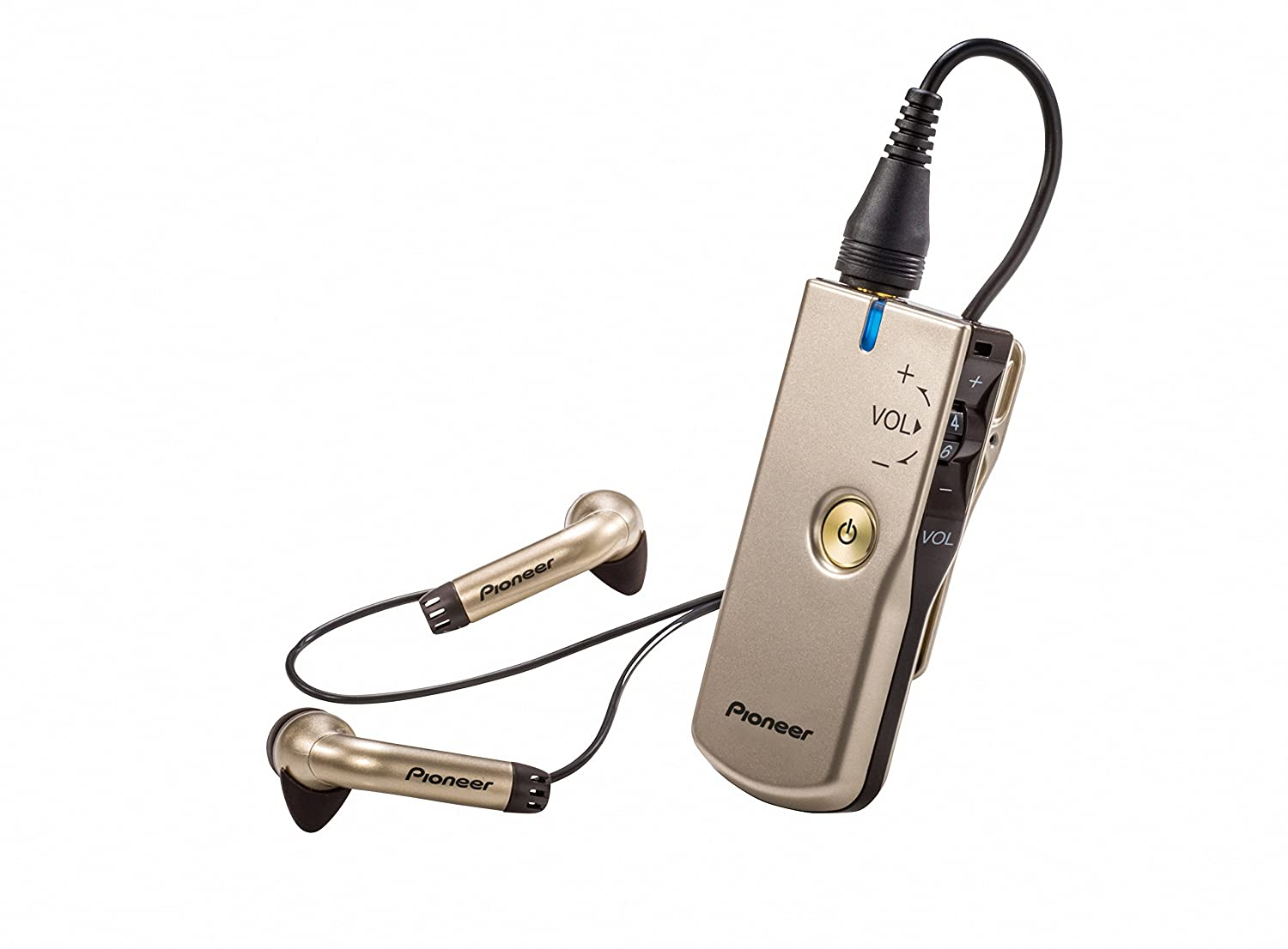 Pioneer Nani Personal Sound Amplifier with in-Ear Headphones Champagne Gold PHA-M70 G