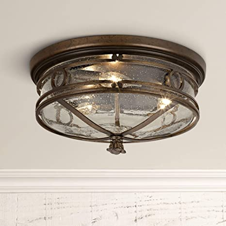 Surprising Beverly Drive Rustic Outdoor Ceiling Light Fixture Bronze 14 Flush Mount Clear Seedy Glass For Exterior Porch Entryway Patio Deck Lighting John Download Free Architecture Designs Intelgarnamadebymaigaardcom