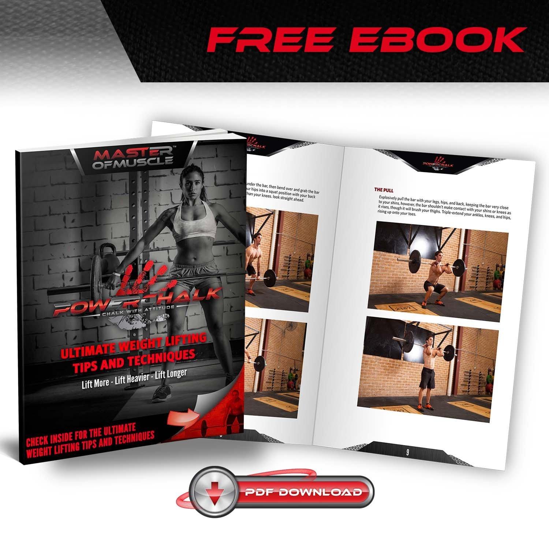 Gym - - Balón para gimnasia, levantamiento de peso, escalada de tiza líquida), incluye Workout eBook de avanzadas técnicas de Levantamiento: Amazon.es: ...