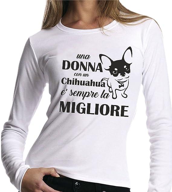 Chihuahua Lunghe Con Migliore Donna E' La T Shirt Maniche jL54A3R