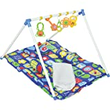 HOUZIE Baby Kick and Play Gym with Mosquito Net and Baby Bedding Set(Random Prints)