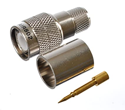TNC Reverse Thread (Left-Hand Threading) Plug-Male Crimp Coax Connector for
