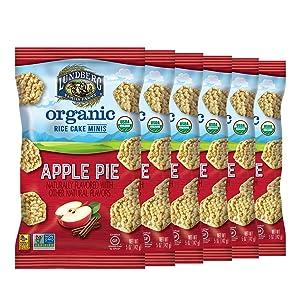 Lundberg Organic Apple Pie Rice Cake Minis, 5oz (6 Count), Gluten-Free, Whole Grain, USDA Certified Organic, Non-GMO Project Verified