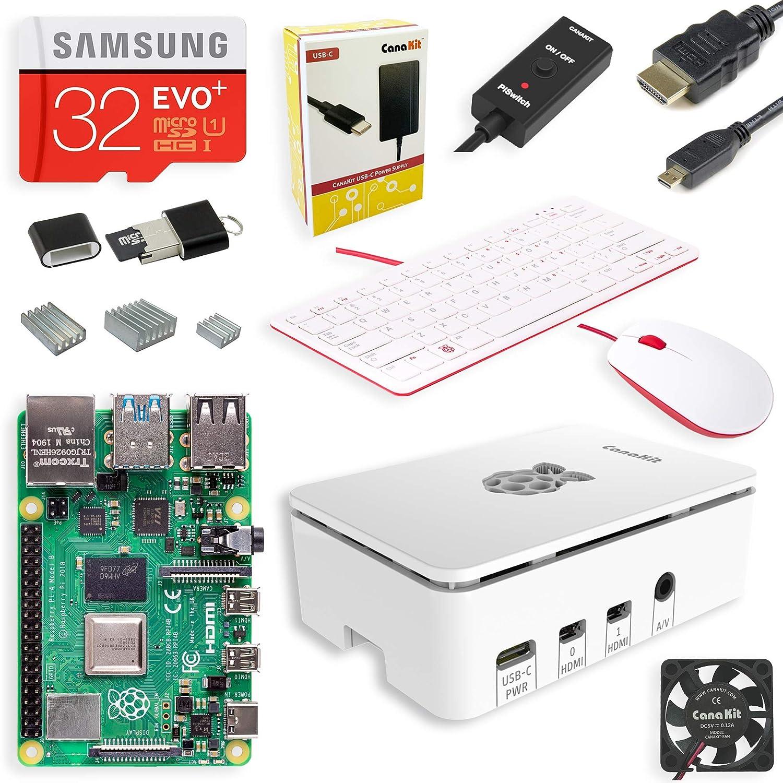 CanaKit Raspberry Pi 4 Complete Desktop Starter Kit (4GB RAM)