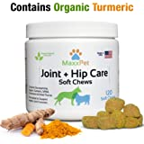 MaxxPet Dog Joint and Hip Chews | Natural Supplement Supports Joint Health | Made in the USA | Glucosamine, Organic Turmeric, Dried Yucca, MSM | Dog Chewable Treat | 120 Soft Chews