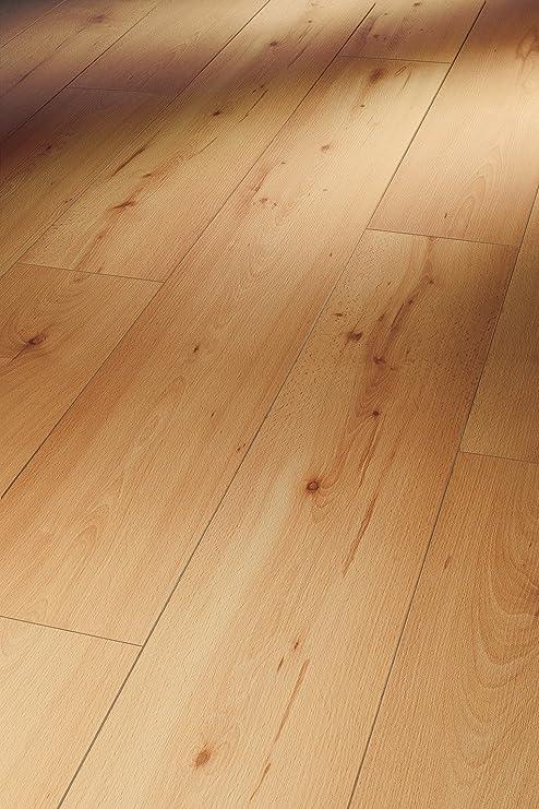 Parador Klick Laminat Bodenbelag Basic 600 Eiche Horizont Natur Landhausdiele Seidenmatte Struktur Fuge 2,186m/² hochwertige Holzoptik braun//beige einfache Verlegung 8 mm