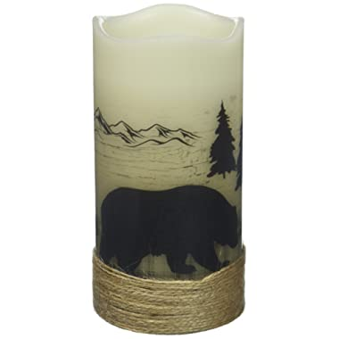Deco Flair LED4397 Bear LED Wilderness Silhouette Candles
