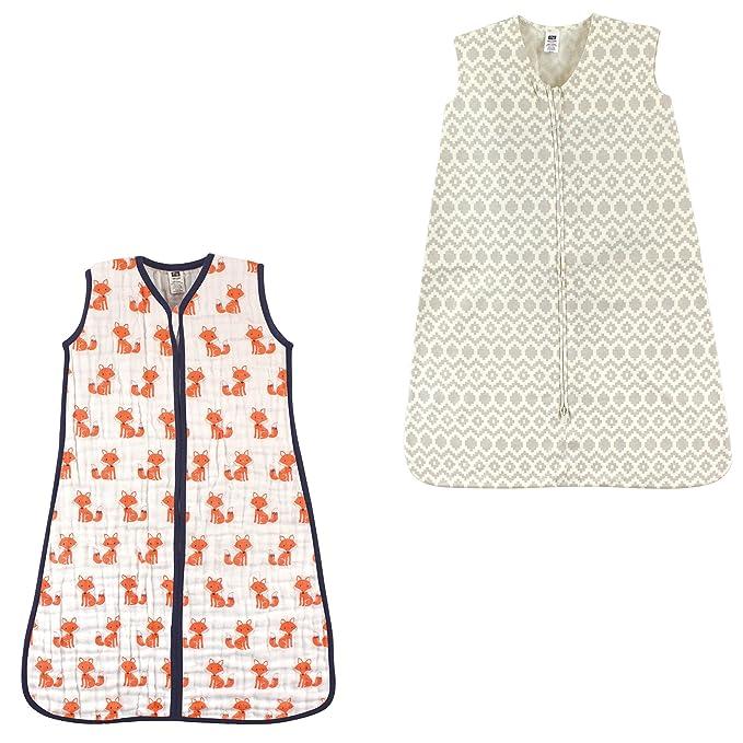 watch bc5d9 0338d Hudson Baby Safe Sleep Wearable Sleeping Bag Muslin & Jersey Cotton, 2 Pack