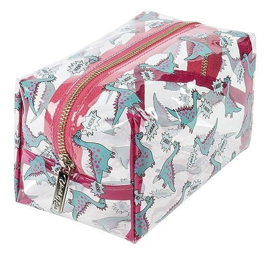 Vivid Hue Bolsa de maquillaje transparente para mujer, bolsa de cosméticos grande, PVC, bolsa de viaje