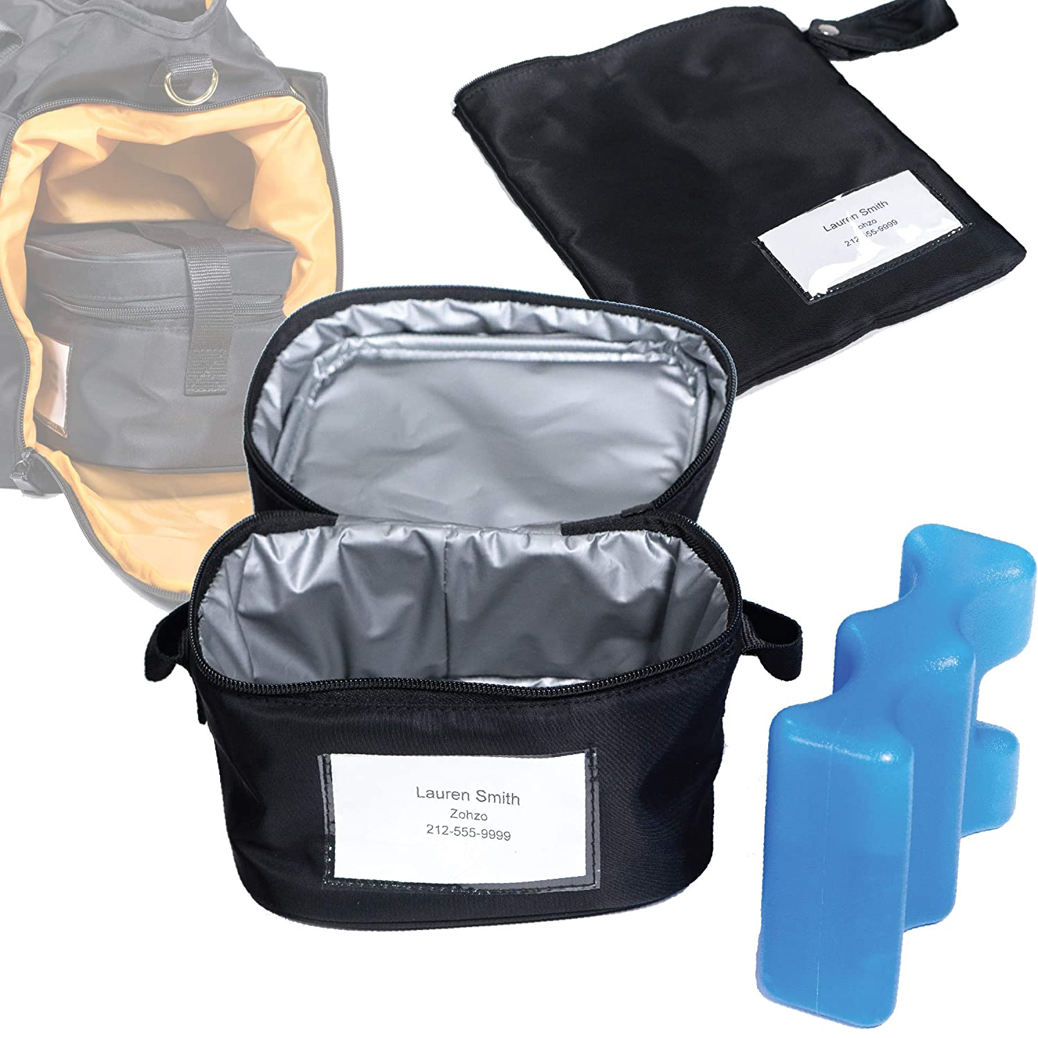 Zohzo Breastmilk Compact Cooler Bag with Ice Pack