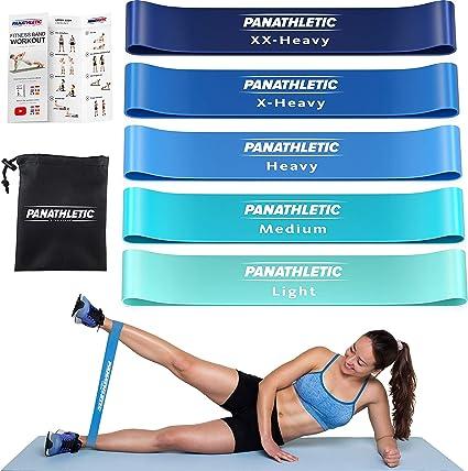 5 Bande De Résistance Elastique Pour Fitness Gym Musculation Yoga Crossfit Sport