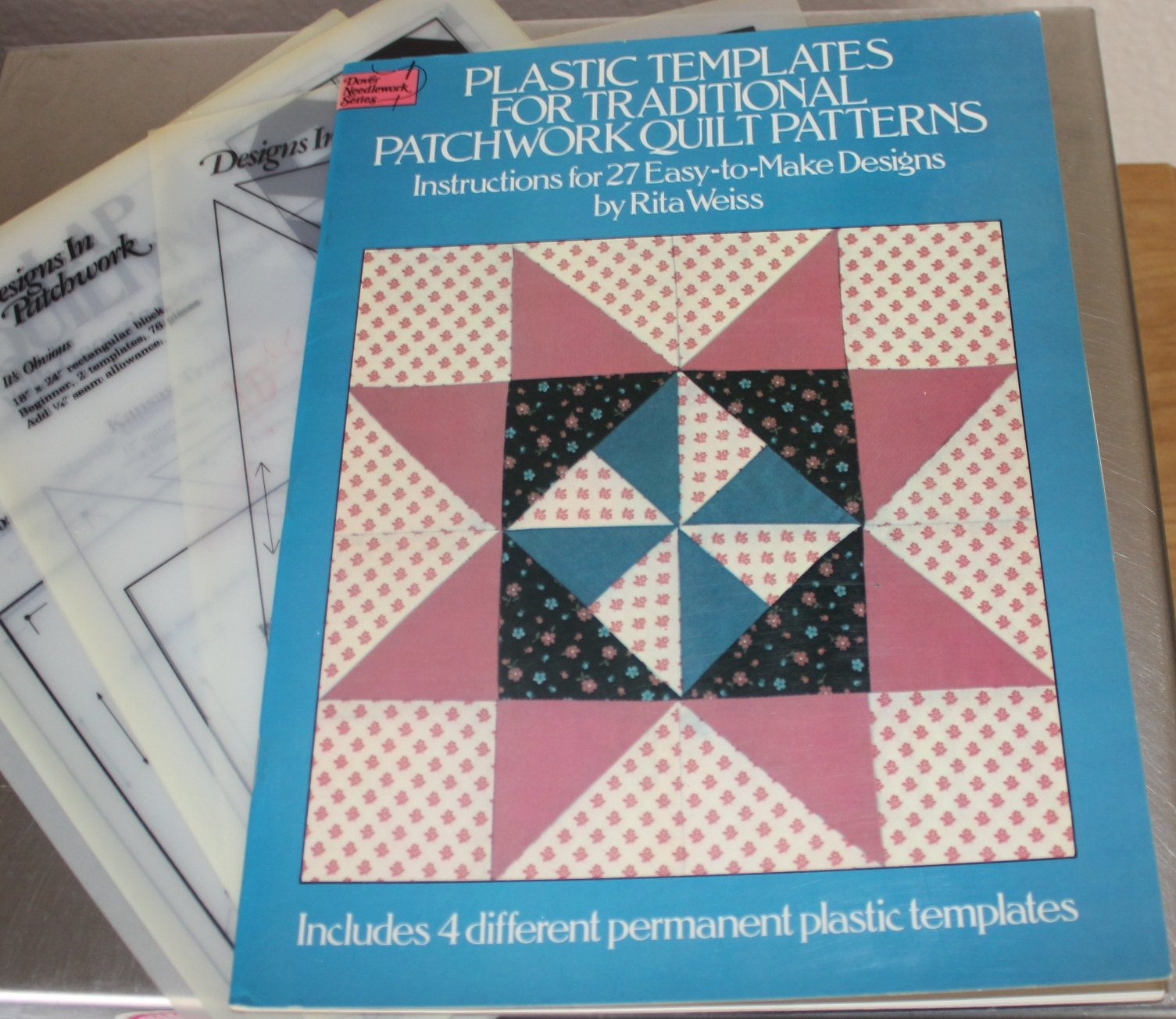 traditional patchwork quilt patterns with plastic templates instructions for 27 amazoncom books
