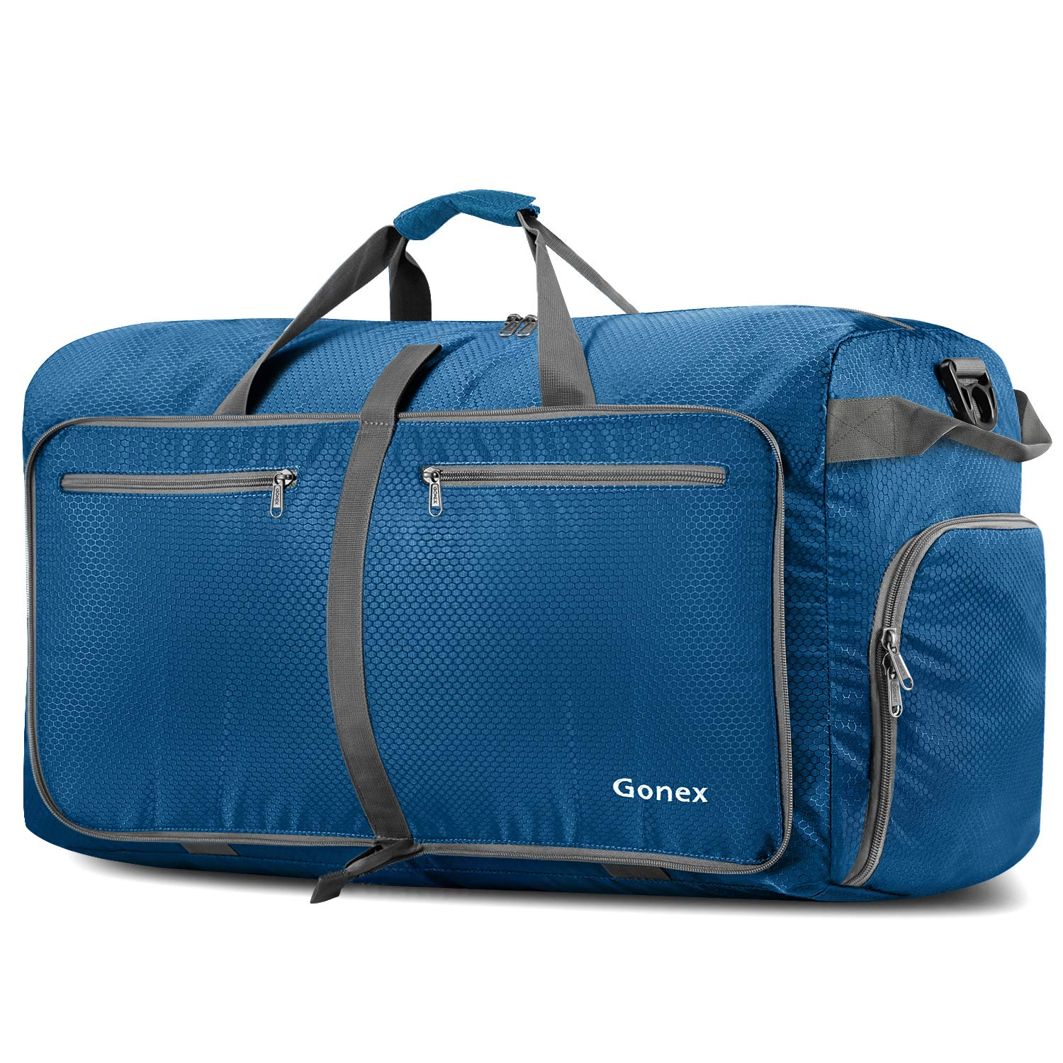 Gonex 100L Foldable Travel Duffel Bag for Luggage Gym Sports, Lightweight Travel Bag with Big Capacity, Water Repellent (Deep Blue)