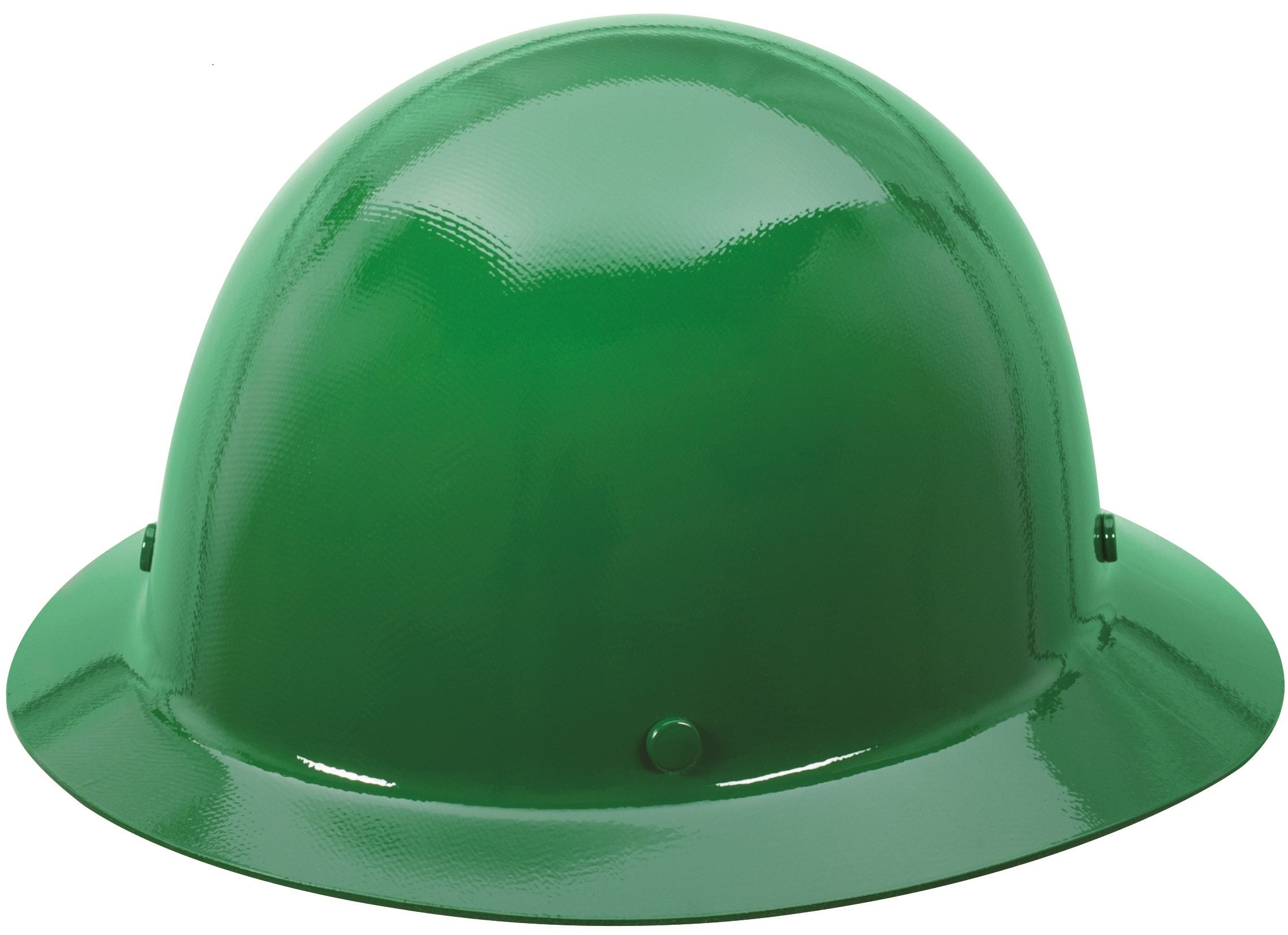 MSA 475411 Skullgard Protective Hard Hat Full Brim, Fas-Trac III Suspension, Standard Size, Green