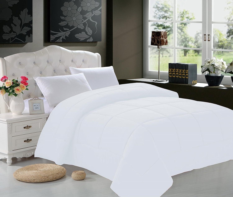 Elegant Comfort (38RW- King White Comforter-) All Season Goose Down Alternative Double-Fill Comforter, King, White