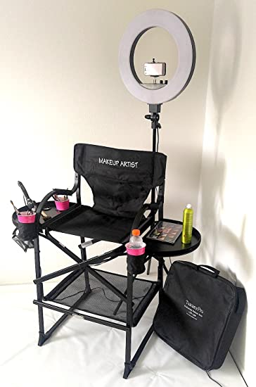 Com Unique Tuscanypro Folding Compact Makeup Artist Chair & Makeup Light Ring   Makeup Tutorial Trick Download