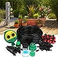 KING DO WAY Conjuntos de Riego con Temporizador Automático , Kits de Riego por Goteo Ajustable para Irrigación Bruma (30 Goteros Tubo de 25 m)