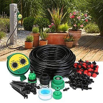 25m Tropschlauch Bewässerungssystem Pflanzen-Tropf-Bewässerung Bewässerungsuhr