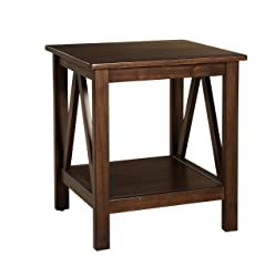 Linon Home Decor Titian Antique End Table
