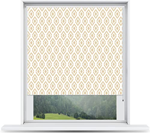 ShadePix Window Shade – Blackout Window Shade with Available in Size 58 x 72 Ikat Beige