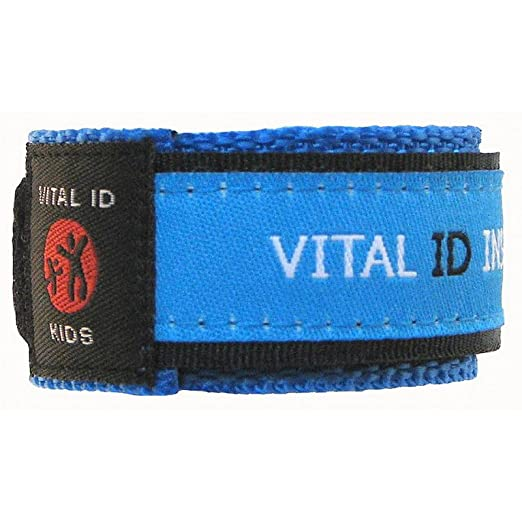 Vital Id Child Safety Adjustable Wristband (Blue)