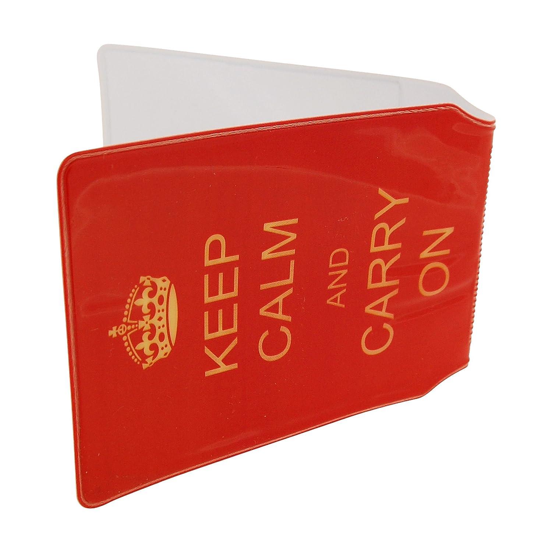 Tarjetero de PVC Keep Calm /& Carry On SC1382