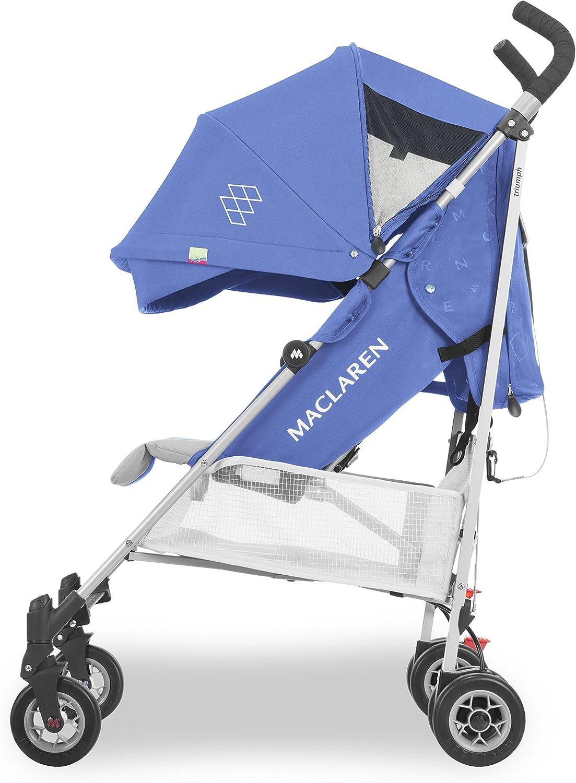 Leggero portata fino a 25 kg Passeggino Maclaren Triumph Cappottina estensibile UPF 50+//impermeabile sedile imbottito lavabile reclinabile Parapioggia incluso. 4 ruote ammortizzate