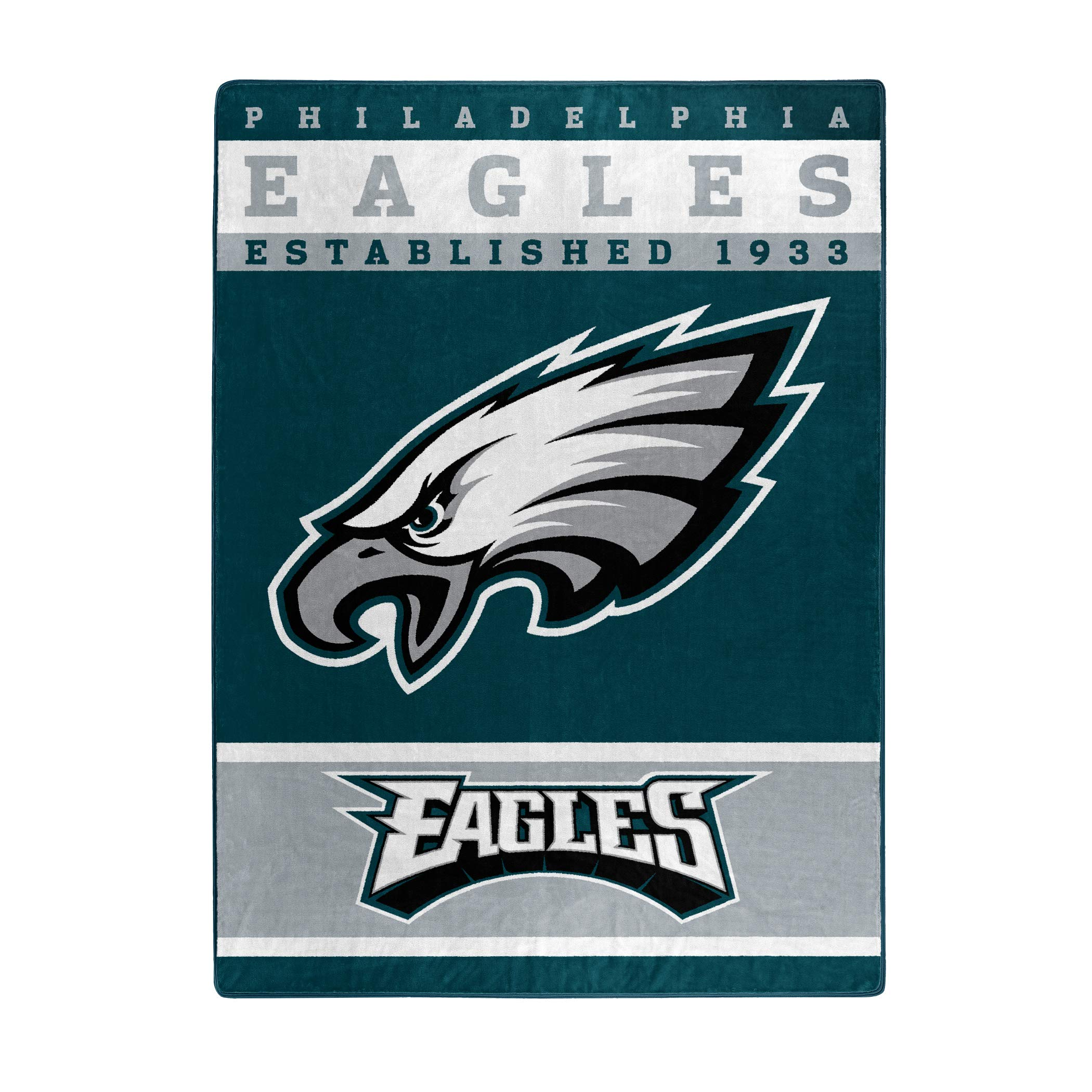 The Northwest Company Officially Licensed NFL Philadelphia Eagles 12th Man Plush Raschel Throw Blanket, 60'' x 80'', Multi Color by The Northwest Company