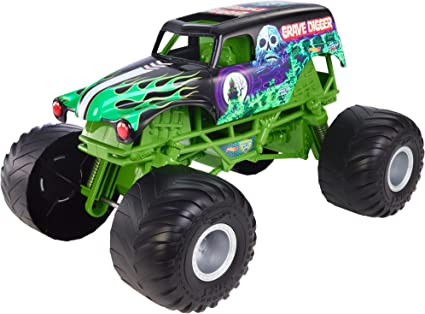 Amazon Com Hot Wheels Monster Jam Big Truck Grave Digger Vehicle Mattel Toys Games