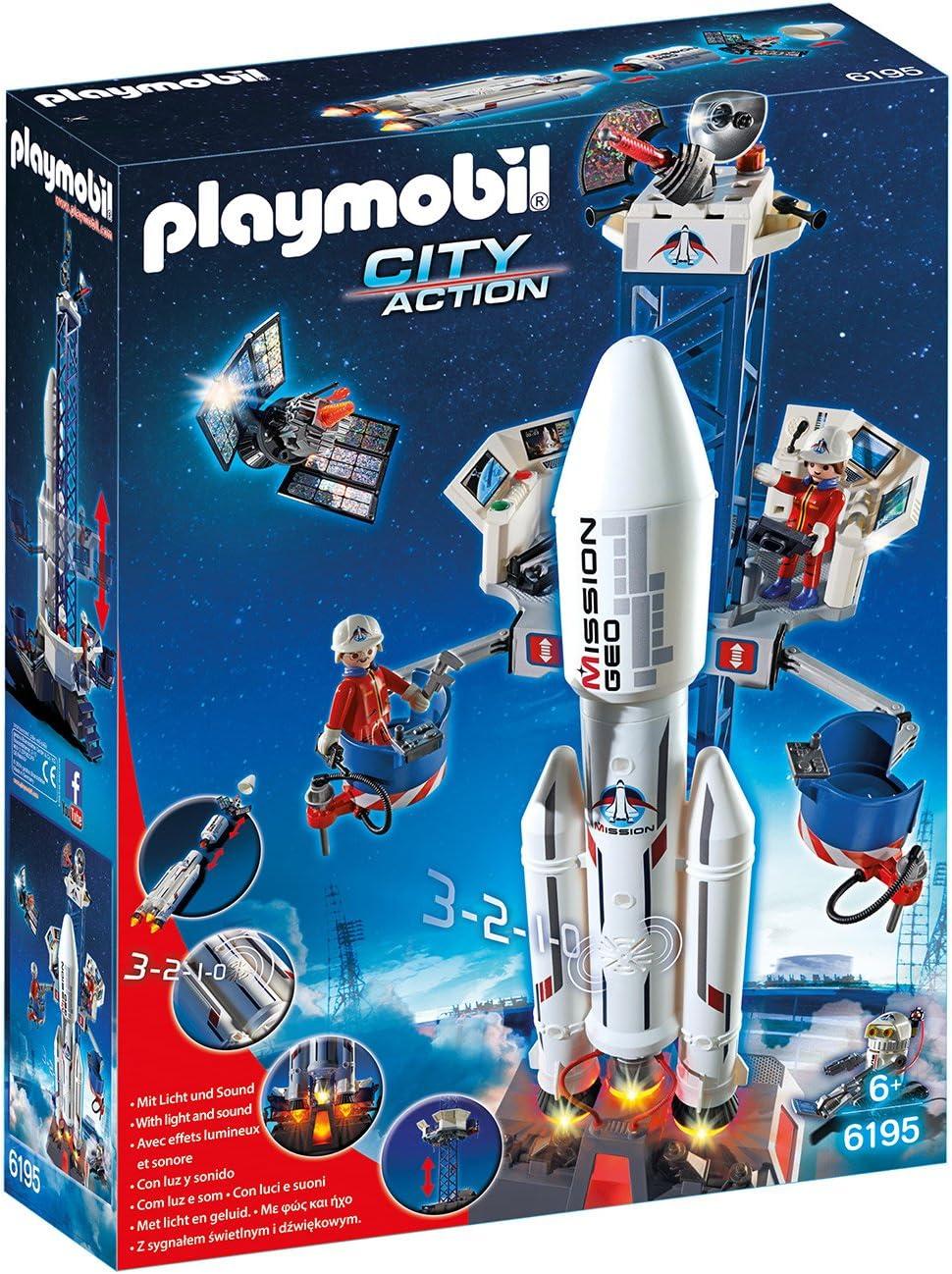 Playmobil - Cohete con plataforma de lanzamiento (61950)