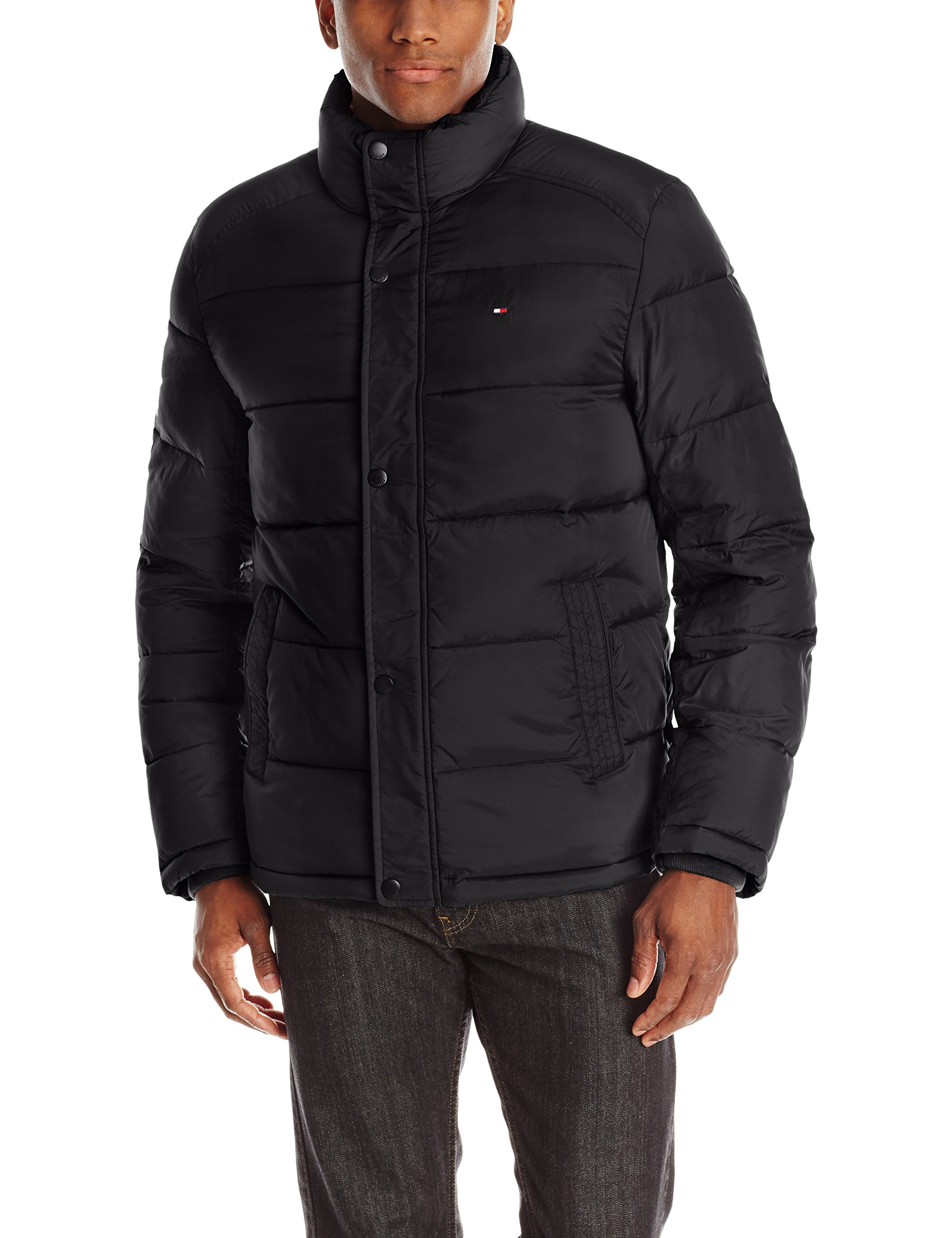 Tommy Hilfiger Men's Classic Puffer Jacket, Black, Small