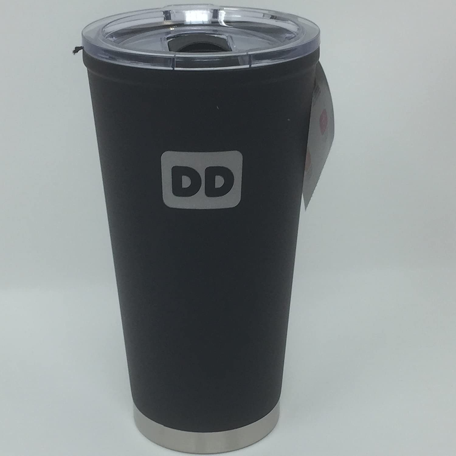 d290fff2c62 Amazon.com: Dunkin Donuts Matte Black 20 oz Stainless Steel Travel Mug  Tumbler with Lid: Kitchen & Dining