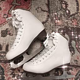 Amazon Com Lake Placid Whitney Women S Traditional Figure Ice Skate Sz 4 White Size 4 Sports Outdoors