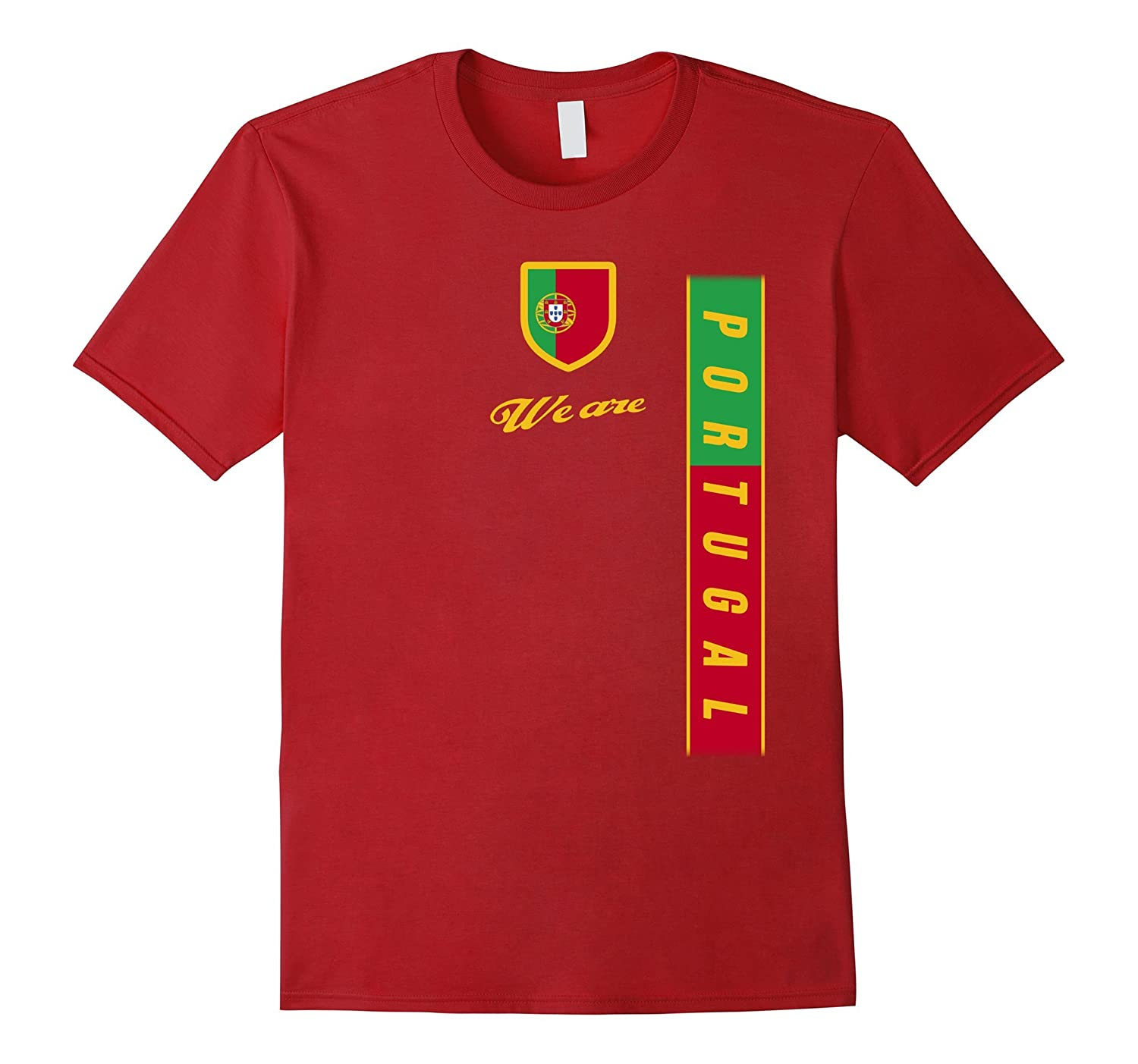 competitive price 3ee2d 83803 PORTUGAL T-Shirt Portuguese National Team Jersey Flag Tee-BN