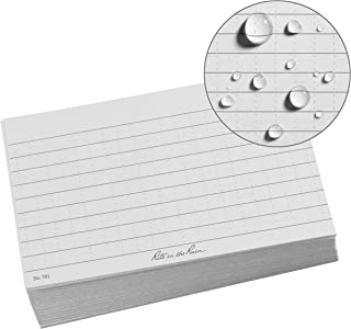 """product image for Rite in the Rain All Weather Index Cards, 3"""" x 5"""", Universal Pattern, Gray (No. 791)"""