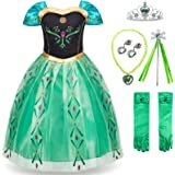 FUNNA Princess Costume for Toddler Girls Fancy Dress Party Green