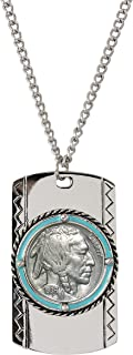product image for Buffalo Nickel Enamel Dog Tag Coin Pendant Necklace