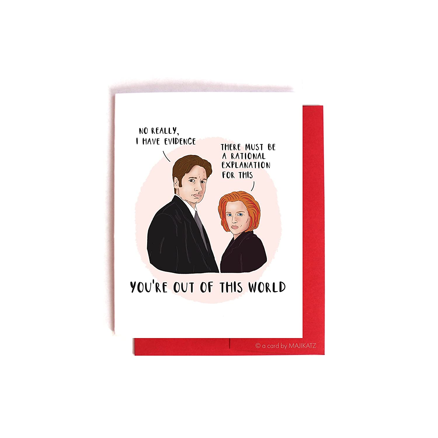 X-Files Scully and Mulder Valentine / Anniversary Card